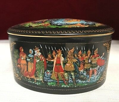 1989 Russian limited edition oval porcelain art box