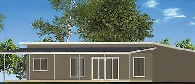 3 Bedroom Owner Builder Kit Home The Hamilton with Gal Chassis - FC Weatherboard