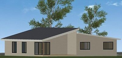 4 Bedroom Owner Builder Kit Home - The Macleay with Gal Chassis- FC Weatherboard
