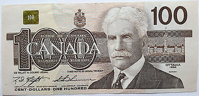 CANADA 1988 CANADIAN 1986 Series Birds of Canada 100 Hundred Dollars Banknote.