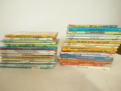 Lot of 37 vintage SBS Scholastic Book Services books - paperback