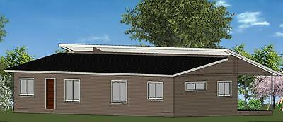 4 Bedroom Owner Builder Kit Home - The Moreton with Gal Chassis- FC Weatherboard
