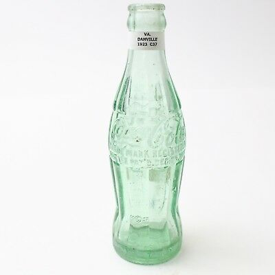 Coca Cola Hobbleskirt Bottle Dec 25, 1923 Type: Danville, Virginia VA C91 C37