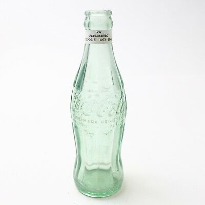 Coca Cola Hobbleskirt Bottle 6.5 oz Type: Petersburg, Virginia C94 C63