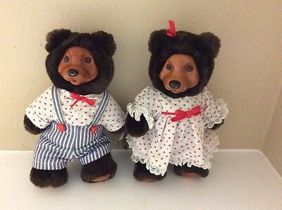 Vintage April and Johnny Valentine Raikes Bears