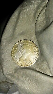 great britain two shilling 1955