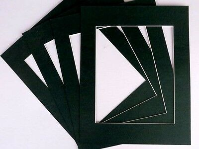 Lot of  4-11x14 Black Designer Mats for Picture Frames-8 1/2x11 openings