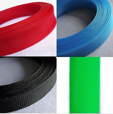 40mm Mix Color 3 weave Expandable Braided PET Sleeving Cable x 1/3/5/10M
