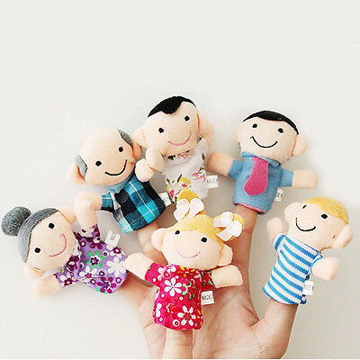 16PC Cartoon Finger Puppets Cloth Plush Doll Baby Educational Hand Animal Toy