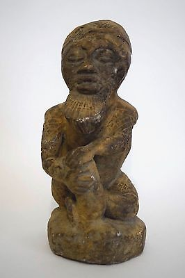 Rare Antique African Sculptures. Hand-Carved on Stone.