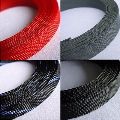 30mm Mix Color 3 weave Expandable Braided PET Sleeving Cable 1/3/5/10M