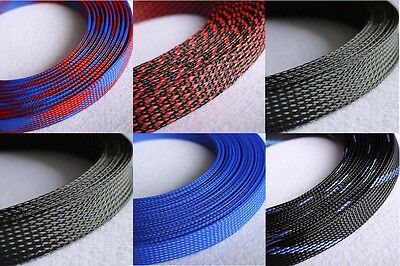 18mm Mix Color 3 weave Expandable Braided DENSE PET Sleeving Cable x1/3/5/10/20M