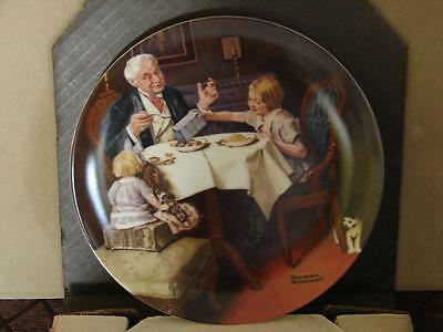 Norman Rockwell Collector Plate: The Gourmet w/Coa and O/G Box
