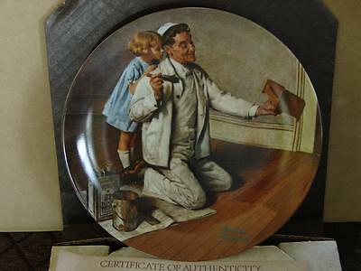 Norman Rockwell Collector Plate: The Painter w/Coa and O/G Box