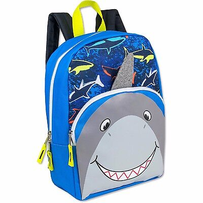 15 Inch Shark Critter Kids Backpack