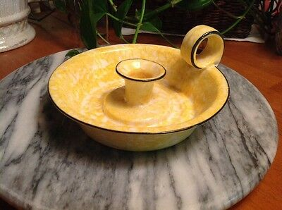 Stangl Chamber Candlestick Holder in Town and Country Yellow