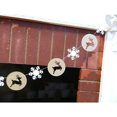 2017 Christmas Party Decor Garland Bunting Reindeer Snowflake Hanging Banner