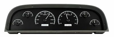 1960-1963 Chevy Truck Gauge Kit Black White Ls1 Lsx Bb Sb Dakota Vhx-67C-Pa-K-W