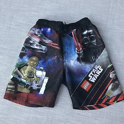 Star Wars Boys Swim Trunks Board Shorts Lego Characters - Sz 6 (L)