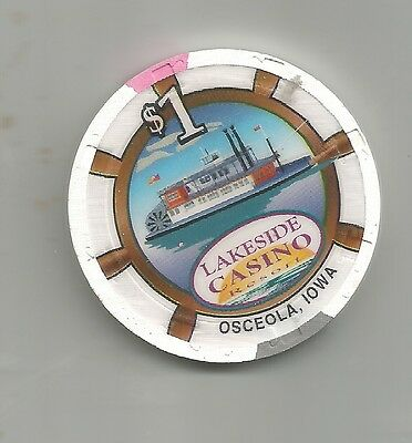 $1 Casino Chip-Lakeside Casino-Iowa