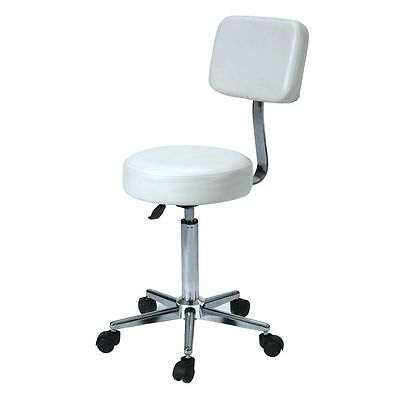 SALE White Gaslift Stool Therapy Clinic Medical Seat Wheels Adjustable New