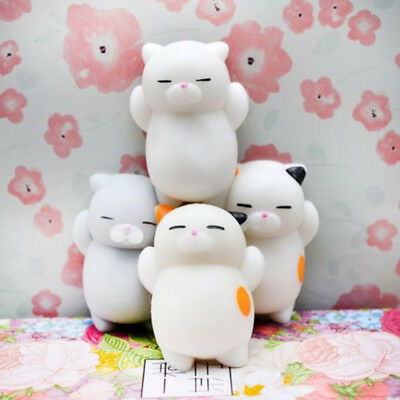 2x Kawaii Slow Soft Rising Squishy Squeeze Cute Cat Expression Smile Face Toy CA