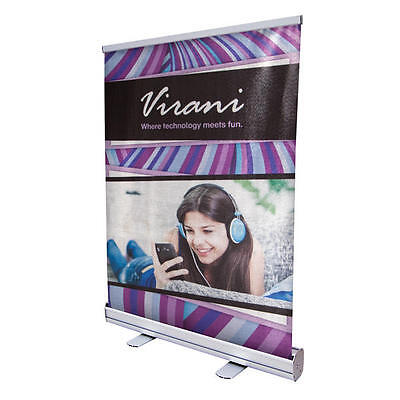 "Creative Banner 24"" Economy Tabletop Aluminum Retractor Kit Convention Display"