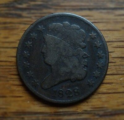 1828 Classic Head Half Cent  ~  Nice, Affordable Example