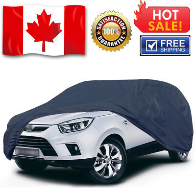 9 Layer Full Car Cover Waterproof UV Heat Dust Resistant All Weather Protection