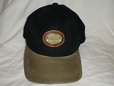 Pennzoil Motor Oil Hat Black Brown with Logo Acrylic Wool Blend American Needle