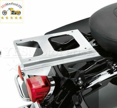 Chrome Detachable Tour-Pak Luggage Rack For Harley Touring FLHX FLTR FLHT 09-13