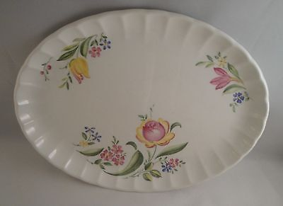 "W S George 11.5"" Serving Platter - Flower Design"