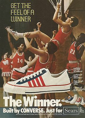 1975 The Winner By Converse Shoes Sears Basketball Vintage Color Photo Print Ad