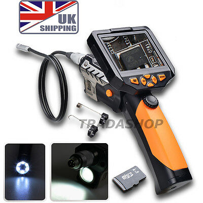 """3.5"""" LCD Inspection Camera Endoscope Scope 8.2 mm Borescope Zoom Rotate 1M Cable"""