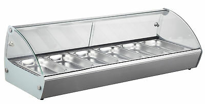 "EQ Commercial Heating Countertop Display S.steel 6 cells, 46.2""x18.9""x14.6"""