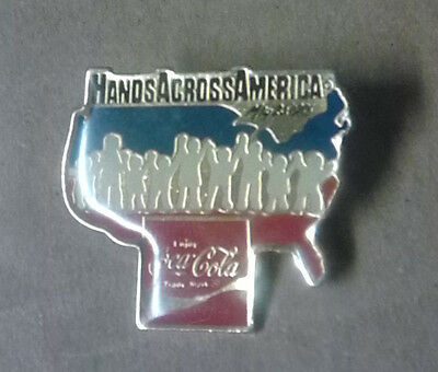 Hands Across America Lapel Pin Coca Cola
