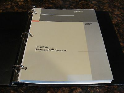 HP / Agilent 8671B Operating Manual 08671-90026