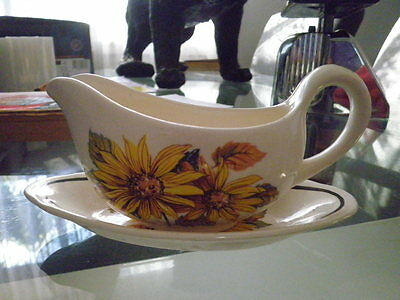 ROYAL WORCESTER Palissy SUMMER TIME GRAVY/SAUCE BOAT
