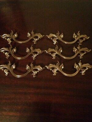 Lot Bulk VTG look Belwith Brass French Provincial Drawer Pull Gold Detail NEW