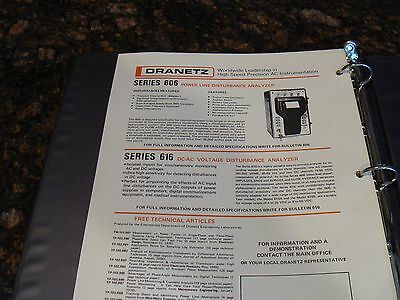 Dranetz 606 Power Line Disturbance Analyzer Operation Manual