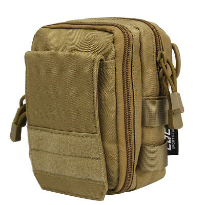 1000D Molle Tactical Utility Bag Sundries Magazine Phone Pouch with Sling Tan