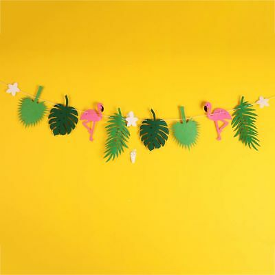 Flamingo Party Flag Hanging Garland Bunting Banner Home Decor Decoration