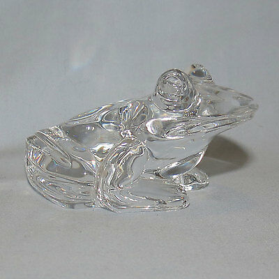 Waterford Crystal Frog Green Tree Frog figure paperweight