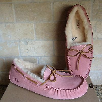 UGG Dakota Chemise Pink Slippers Moccasins Shoes Suede Womens US 9 New !!! 5612