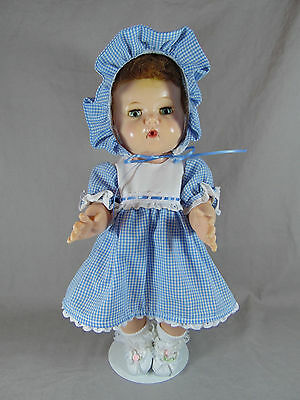 "American Character 16"" Tiny Tears Vinyl Doll W/hp Head Rooted Hair 1959-61"