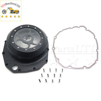 Black Left Engine Clutch Cover See Through For Suzuki B-King B KING  2008 2009