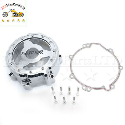 Chrome Left Engine Stator Cover See Through Kawasaki 2006-2014 Zx Zx14R Zzr1400
