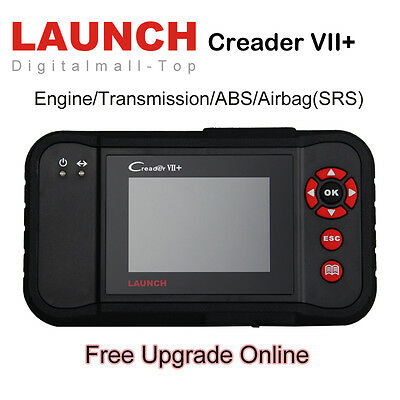 Launch X431 Creader VII+ OBD2 Auto Diagnostic Scan Tool Code Reader ABS Airbag