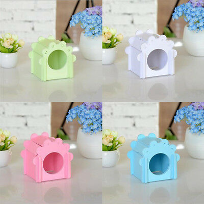 Pet Small Animal Hamster Flower House Toy Wooden Nest Mice Mouse Bed Pet Supplie