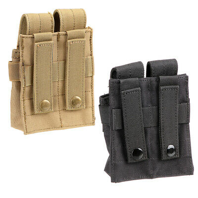 Tactical Military Army Molle Clip Double Mag Magazine Pouch Bag Pistol Case Camp